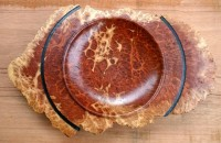 Red Flowering Mallee Burl Platter - 