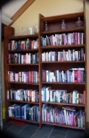 Native Cherry Bookcase -  This very large bookcase (2000mm W x 2750mm H) was commissioned by ve