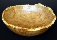 Coolabah Burl Natural Edged Bowl -  A 35cm Coolabah Burl Bowl with a natural edge. The edge has been blea