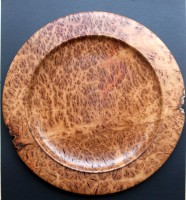 Swagman's Plate -  This large platter was turned from a slab of Coolabah Burl. It